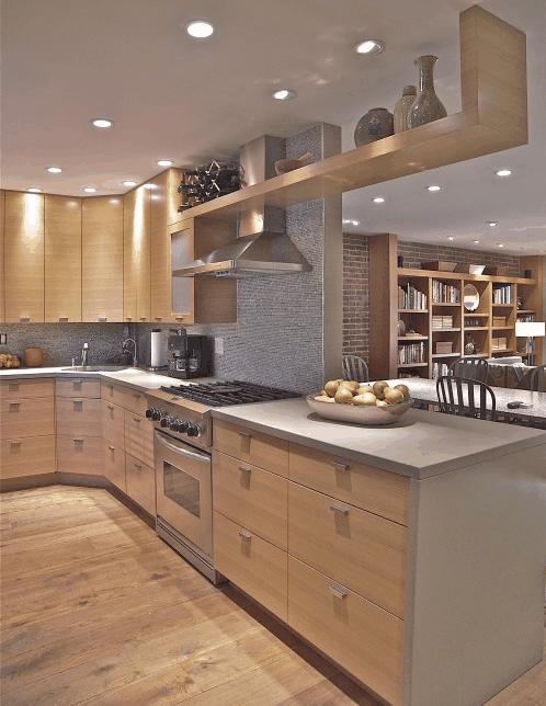 Cucine artigianali in legno moderne